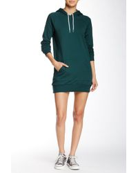 American Apparel | California Fleece Pullover Hoodie Dress | Lyst