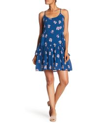 Joe Fresh - Ruffle Floral Printed Dress - Lyst