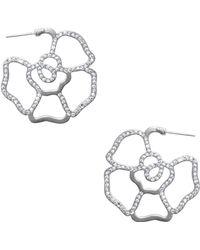 Karine Sultan - Pave 31mm Hoop Earrings - Lyst