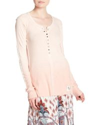 Free People - Cozy Up Henley - Lyst