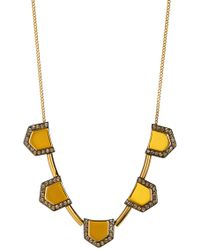Botkier - Embellished Geometric Chain Necklace - Lyst