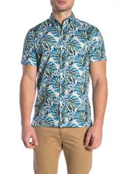 8a444794b Lyst - Wallin & Bros. Hawaiian Short Sleeve Performance Fit Shirt in ...