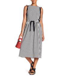 Eva Franco - Sage Printed Tassel Midi Dress - Lyst