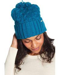 Michael Kors - Cable Knit Cuff Beanie - Lyst 15183726d1d