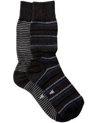 Frye - Striped Cushioned Crew Socks - Pack Of 2 - Lyst