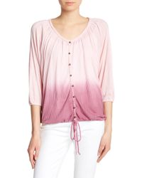 Seven7 - Ombre Dolman Sleeve Button Down Shirt - Lyst