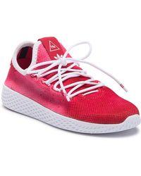 963d478a59f Lyst - Adidas Red And Black X Pharrell Williams Solar Hu Glide St ...