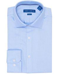 Vince Camuto - Blue Dobby Slim Fit Dress Shirt - Lyst