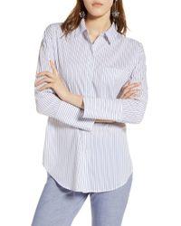 Halogen - Tie Front Poplin Shirt -retail - Lyst