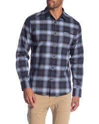 Good Man Brand - Ombre Plaid Long Sleeve Regular Fit Shirt - Lyst