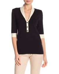 Anne Klein - Shawl Collar Sweater - Lyst