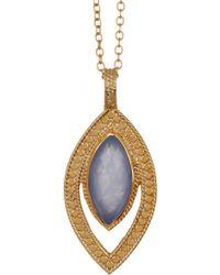 Anna Beck - 18k Gold Vermeil Blue Chalcedony Pendant Necklace - Lyst