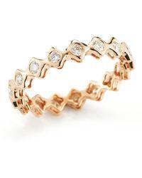 Dana Rebecca - 14k Rose Gold Diamond Sophia Ryan Stacking Band - 0.51 Ctw - Lyst