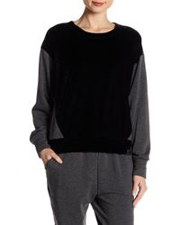 Two By Vince Camuto - Velvet & Fleece Crew Neck Jumper - Lyst