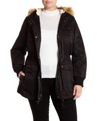 Levi's - Four Pocket Faux Fur Hooded Jacket (plus Size) - Lyst