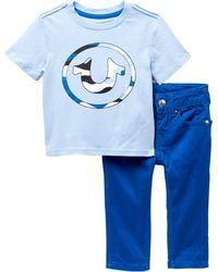 True Religion - Camo Logo Tee 2-piece Set (baby Boys) - Lyst