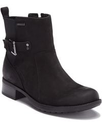 Rockport - Claudia Waterproof Leather Buckle Bootie - Wide Width Available - Lyst