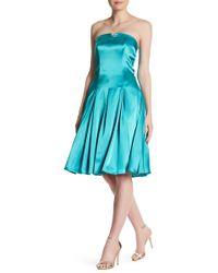 ABS By Allen Schwartz - Bustier Bodice Strapless Pleated Dress - Lyst