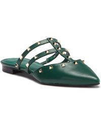 Marc Fisher - Amazie Leather Studded Pointed Toe Mule - Lyst