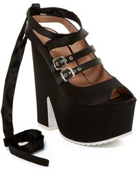Shellys London - Elke Platform Ankle Tie Pump - Lyst