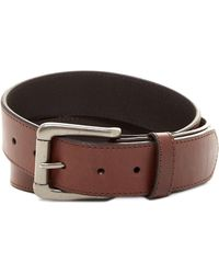 Will Leather Goods - Leather Flat Strap Single Edge Belt - Lyst