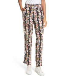 Equipment - Florence Floral Silk Trousers - Lyst