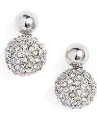 Rebecca Minkoff - Mini Double Sphere Stud Earrings - Lyst