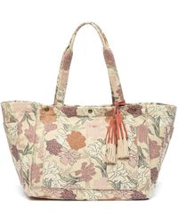 Lucky Brand - Tyna Suede Trimmed Tote - Lyst