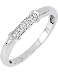 Bony Levy - 18k White Gold Diamond Pave Ring - 0.08 Ctw - Lyst