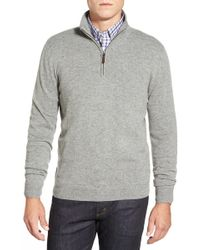 John W. Nordstrom - Quarter Zip Cashmere Jumper (regular & Tall) - Lyst