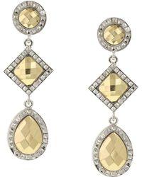 1928 - Geometric Stone Drop Earrings - Lyst