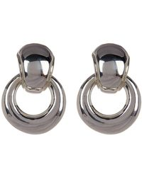 Simon Sebbag - Sterling Silver Polished Door Knocker Clip-on Earrings - Lyst
