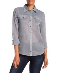 Quinn - Marmara Striped Button Down - Lyst