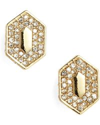 Vince Camuto - Pave Crystal Stud Earrings - Lyst