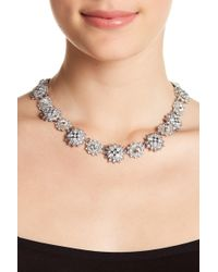 Marchesa - Crystal Cluster Collar Necklace - Lyst