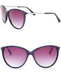 Balmain - 59mm Rounded Cat Eye Sunglasses - Lyst