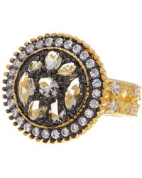 Freida Rothman - 14k Gold Plated Sterling Silver Anniversary Round Pebble Ring - Lyst