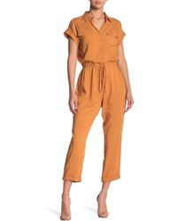 Mustard Seed - Utility Striped Jumpsuit - Lyst