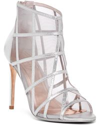 Ted Baker - Xstal Caged Leather Bootie - Lyst
