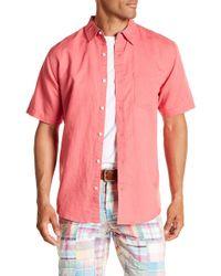 Vintage 1946 - Linen Blend Pocket Regular Fit Shirt - Lyst