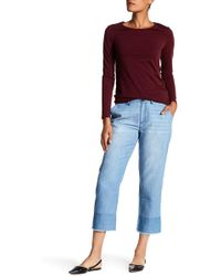 Soft Joie - Marinne High Rise Chambray Crop Trousers - Lyst