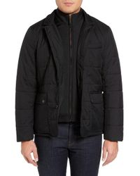 Ted Baker - Jasper Trim Fit Quilted Jacket With Removable Bib - Lyst