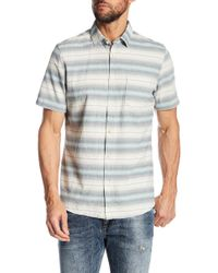Jeremiah - Gibson Textured Chambray Stripe Shirt - Lyst