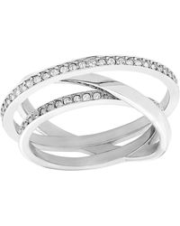 Swarovski - Spiral Mini Ring- Size 7 - Lyst