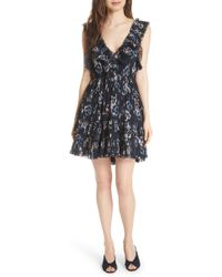 Rebecca Taylor - Faded Floral Fit & Flare Dress - Lyst