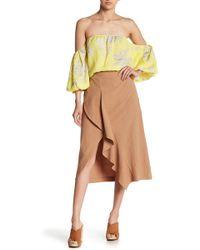 Lush - Asymmetrical Hem Skirt - Lyst