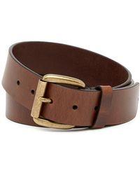 Frye - Burnished Panel Leather Belt - Lyst