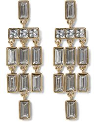 Vince Camuto - Faceted Crystal Statement Chandelier Earrings - Lyst