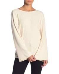 Lush - Back Twist Ribbed Knit Sweater - Lyst