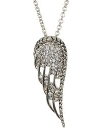 House of Harlow 1960 - Embellished Angel Wing Pendant Necklace - Lyst